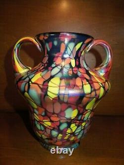 Fenton Mosaic Centennial Vase Par Dave Fetty Limited Ed. #449