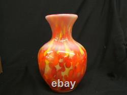 Fenton Myriad Mist Orange Vase Limited #37/750 Signé Dave Fetty 2001 Mib