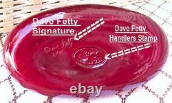 Fenton Ruby Purse Figure Circa 2005 Personnellement Faite Par Dave Fetty & Signed