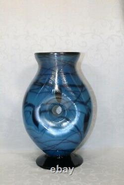 Fenton, Vase, Indigo Glass, Dave Fetty, Édition Limitée, Hanging Hearts