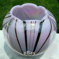 Fenton Verre Lavande Haze Dave Fetty # 10/250 Vase & Gorgeous Mintrare