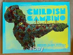 Festival Childish Gambino Outside Lands 2019 Affiche De Varaint Bleu Rare Dave Kloc
