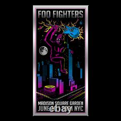 Foo Fighters Foil Poster Msg Nyc 2021 Kong Limited Ap Foil Variant Dave Grohl