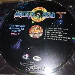 Grateful Dead CD Dave Sélection Tripadvisor Vol 1 25.05.77 Mosquée Richmond Va Rare Unnumbered