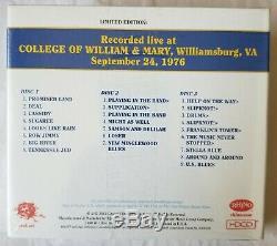 Grateful Dead Dave Sélection Tripadvisor Vol 4 Williamsburg, Va 24/09/76 (sealed, Ltd, Poo, 3-cd)