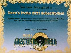 Grateful Dead Daves Picks 2021 Abonnement Complet Avec Disque Bonus Nouveau Et Scellé