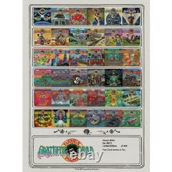 Grateful Dead Poster Dave's Picks Vol. 1-36 Édition Limitée Imprimer #52/100