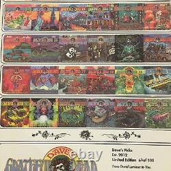 Grateful Dead Poster Dave's Picks Vol. 1-36 Édition Limitée Imprimer S/n 067/100