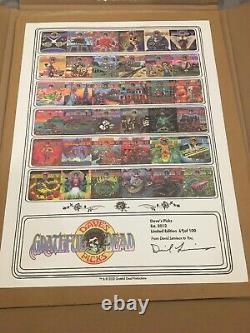 Grateful Dead Poster Dave's Picks Vol. 1-36 Édition Limitée Imprimer S/n 069/100