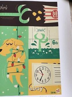 Gremlins 2010 Tirage D'art #9/20 Gizmo Stripe Dave Perillo Affiche De Noël Mondo