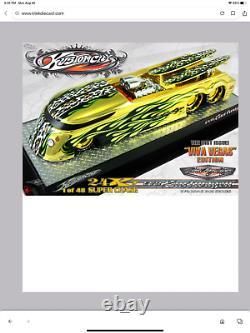 Kustomcity 24 Kt Gold Par Dave Chang Evo Surfwagon #42/48 & Black Gold #42/48