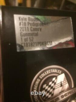 Kyle Busch & Dave Rodgers Autographe 2011 Pedigree Gun Metal 1/24 1 Sur 52 Rare