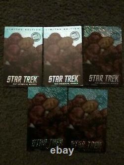 L'étoile De Dave & Buster Trek Tos Edition Limitée Tribble Card Set De Cinq
