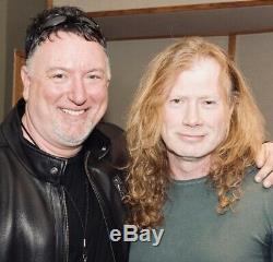 Megadeth Édition Limitée Signé Autographié Par Dave Mustaine