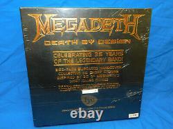 Megadeth Mort Par Design 4-lp Transparent Boîte De Vinyle Set Fye Dave Mustaine Signée