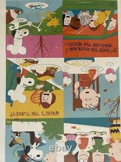 Mint Charlie Brown Thanksgiving Limited Edition Art Print Dave Perillo #101/280