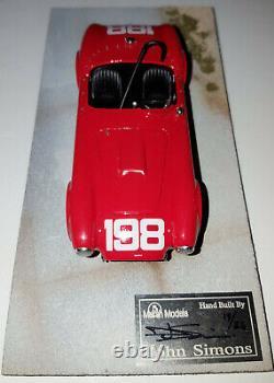 Modèles Marsh Built 1/43 Cobra 260 # 198 Dave Macdonald 1963 Riverside Gagnant # / 25