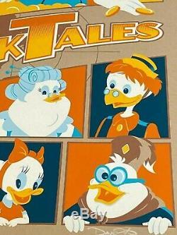 Mondo Artiste Dave Perillo Limited Edition Ducktales Livré Avec Coa