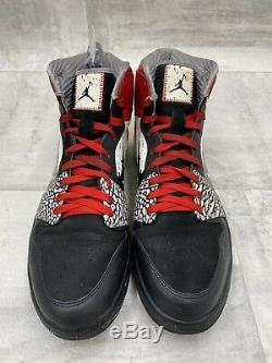 Nike Air Jordan 1 Og Haute Dave Taille 12 Ailes Noir Rouge Ciment 464803-001