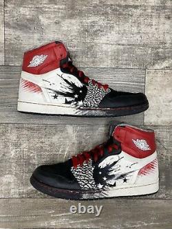 Nike Air Jordan 1 Og High Dave White Taille 12 Wings Noir Ciment Rouge 464803-001