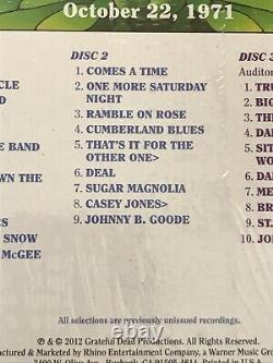 Picks De Dead Dave Reconnaissants Vol. 3 Théâtre Auditorium Chicago IL 10/22/71 Cd. Nouveau