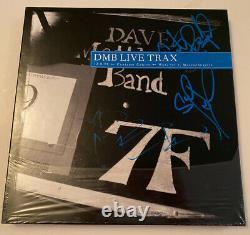 Signé Dave Matthews Band Live Trax Vol 1 Rsd Dmb Blue Vinyl Rare Carter Atefan