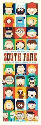 South Park Dave Perillo Limited Edition Bottleneck Galley Hand Print Numéroté