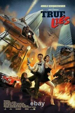 True Lies Édition Limitée Imprimer R2019 Arnold Schwarzenegger Dave Merell 24x36