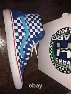 Vans Édition Limitée Dave Haro Bmx Sk8 Hi Blue Sz 13