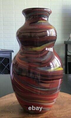 Vase En Verre Fenton Dave Fetty Crayons 2006 Collection Connaisseur #265/750