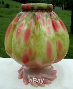 Verre Fenton Art Studio Dave Fetty Vasecutting Garden L. E. # 119/500 6.5h-rare