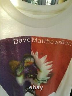 Vintage Dave Matthews Band 1996 Crash Concert Tour L Chemise Difficile À Trouver Dmb